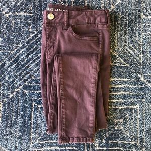 Purple/Plum Super Stretch Jeggings American Eagle